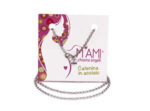 Catenina in acciaio Chiama angeli M'AMI<sup>®</sup>