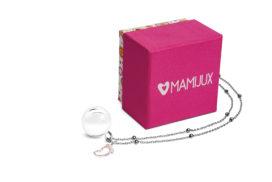 Llamador de ángeles MAMIJUX® pie con cristales rosados