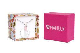 Llamador de ángeles MAMIJUX® pie esmaltado rosado
