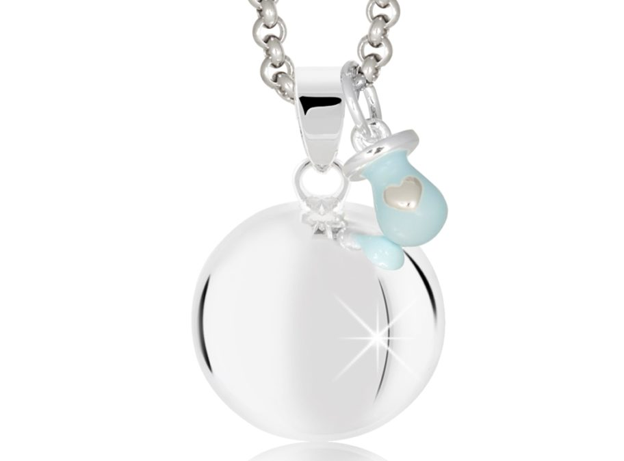 MAMIJUX® light blue enameled pacifier harmony ball