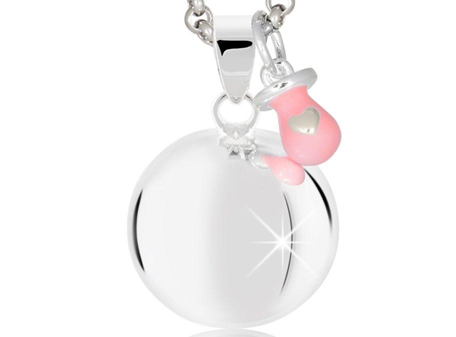MAMIJUX® pinkenameled pacifier harmony ball