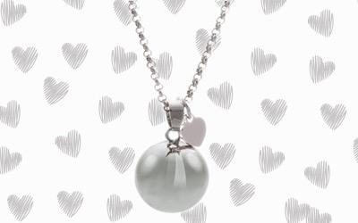 M'AMI® silver heart harmony ball