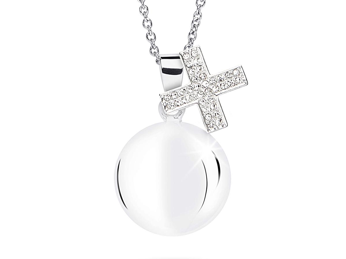 Chiama angeli croce cristalli bianchi