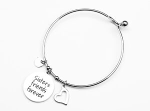 "MAMIJUX® TAG Bangle bracelet ""Sisters forever friends"""