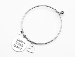 Sisters forever friends TAG bangle