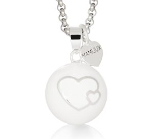 MAMIJUX® Harmony Ball White enamelled with Double Heart