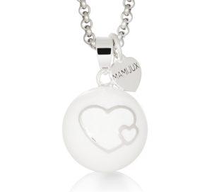 MAMIJUX® Harmony Ball White enamelled with Double Heart