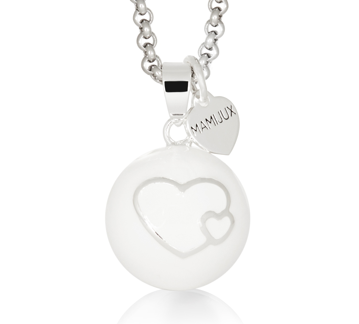 MAMIJUX® white enamelled heart harmony ball