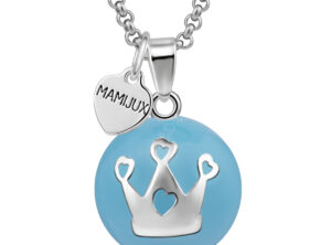 MAMIJUX® blue enameled harmony ball with crown