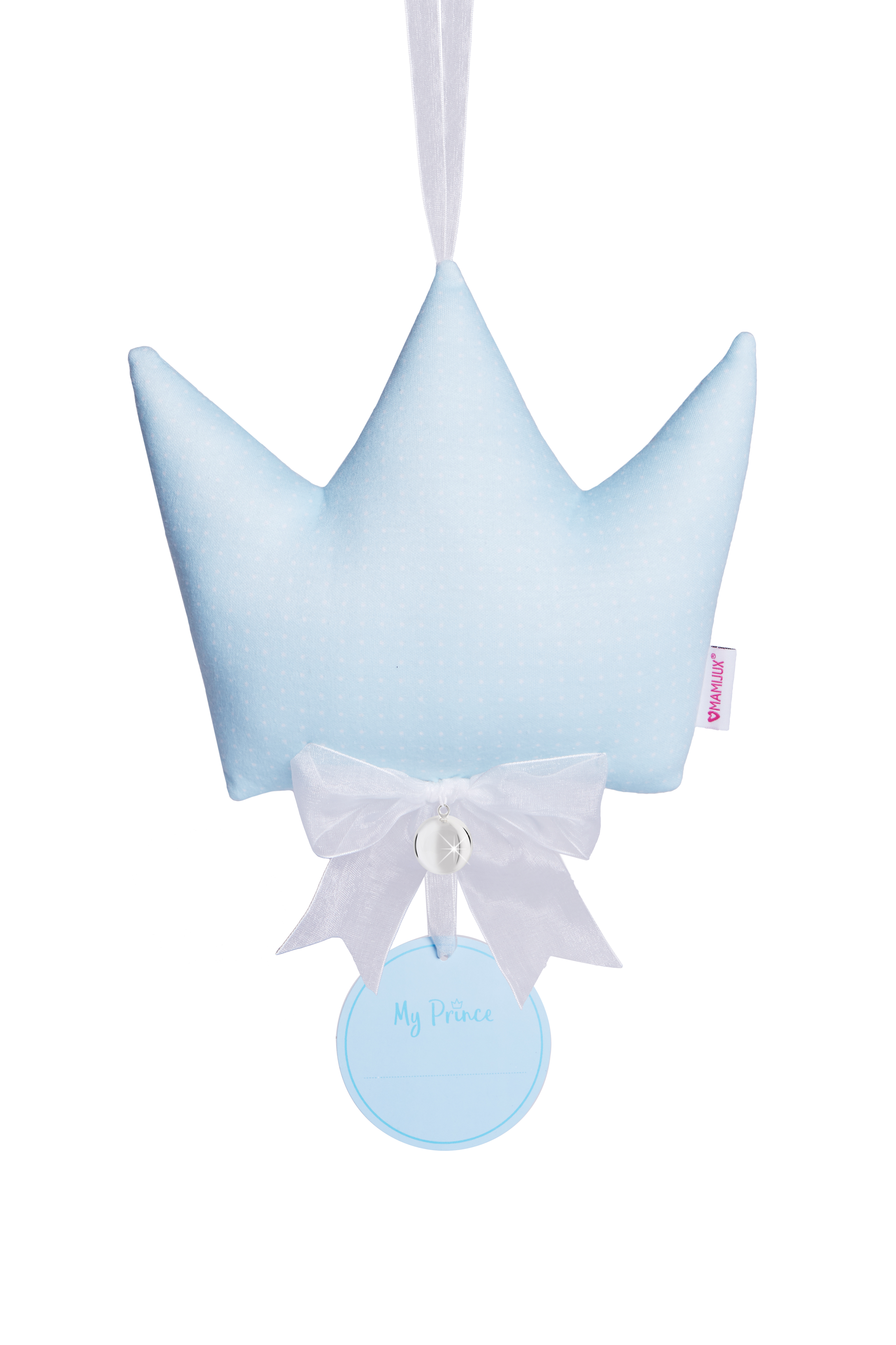 MAMIJUX® soft good luck crown pillow - blue