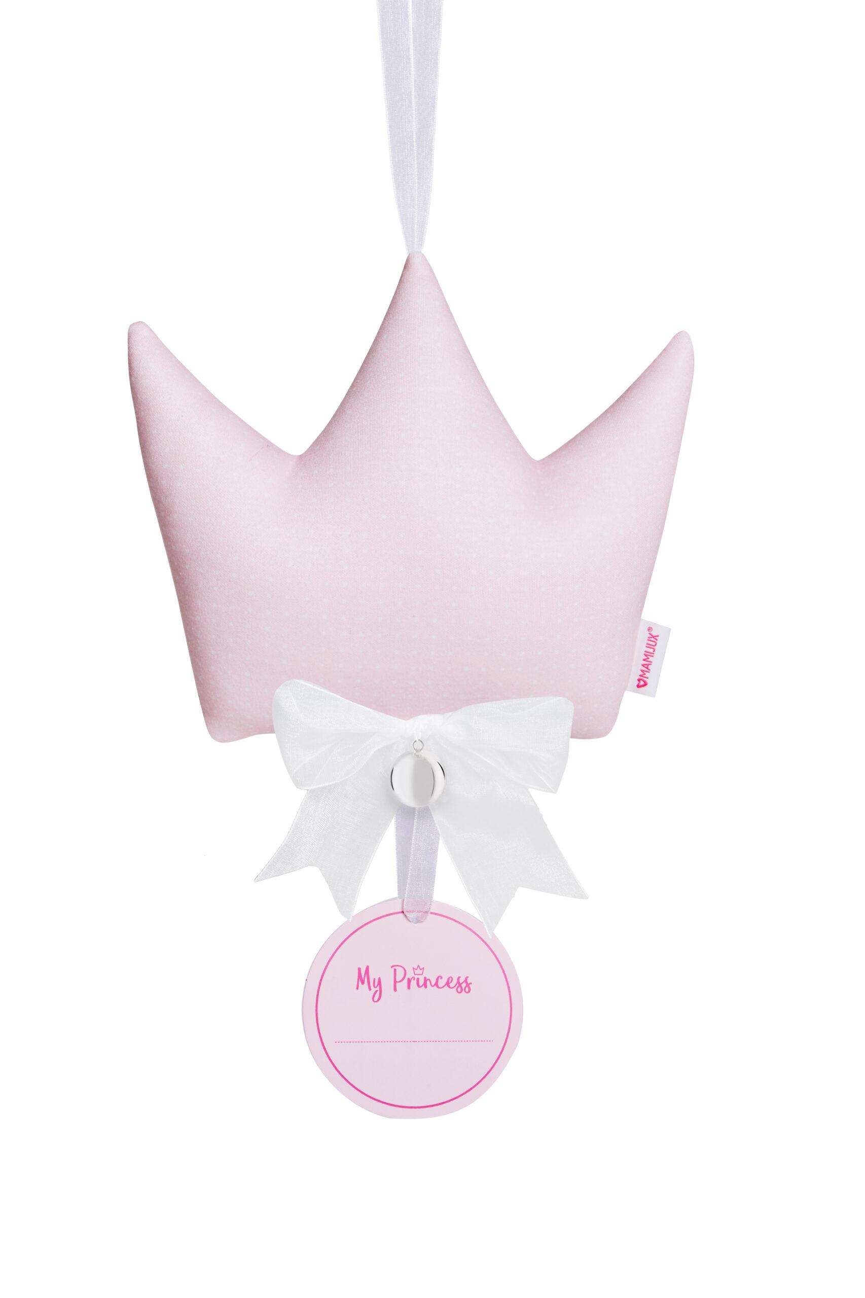 MAMIJUX® soft good luck crown pillow - pink