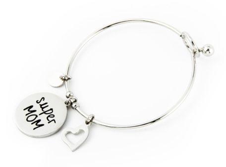 """MAMJUX® Bangle bracelet """"Super MOM"""""""