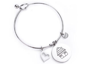 "MAMIJUX® ""Family is love"" bangle bracelet"