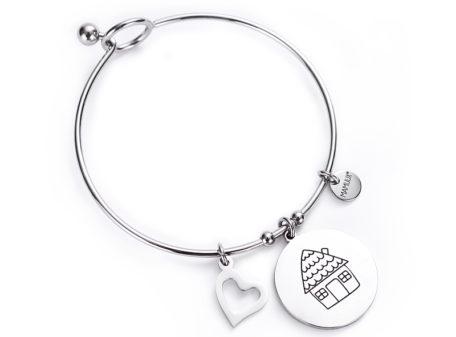 "MAMIJUX® ""Family is love"" bangle bracelet"