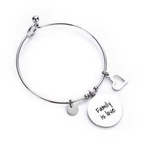 Family is love TAG bangle