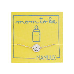 Mom to be TAG steel chain bracelet