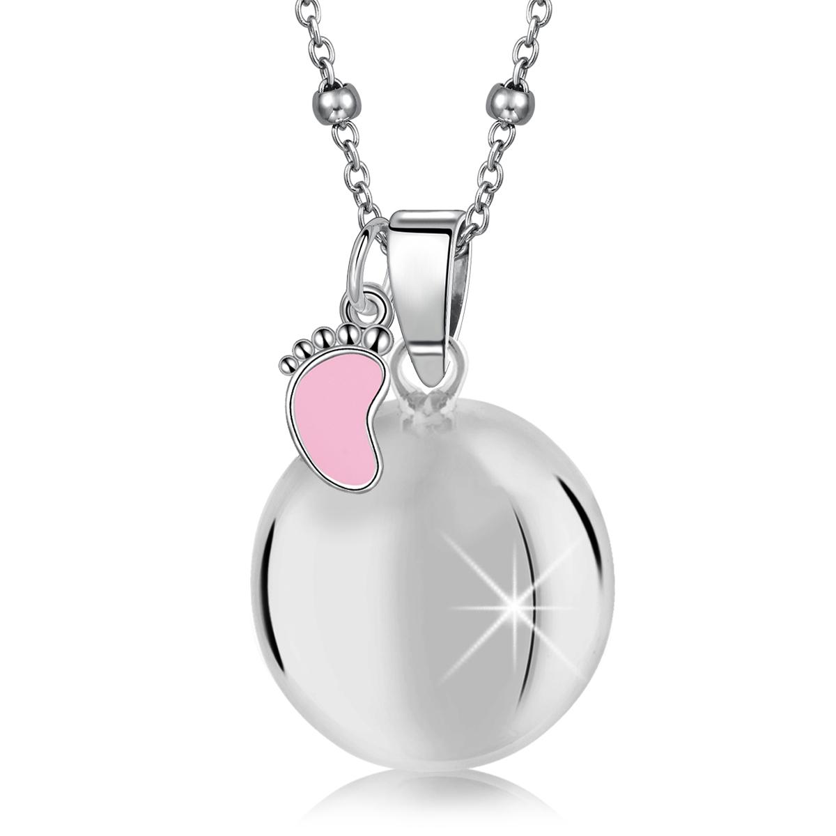 MAMIJUX® pink enameled baby foot harmony ball