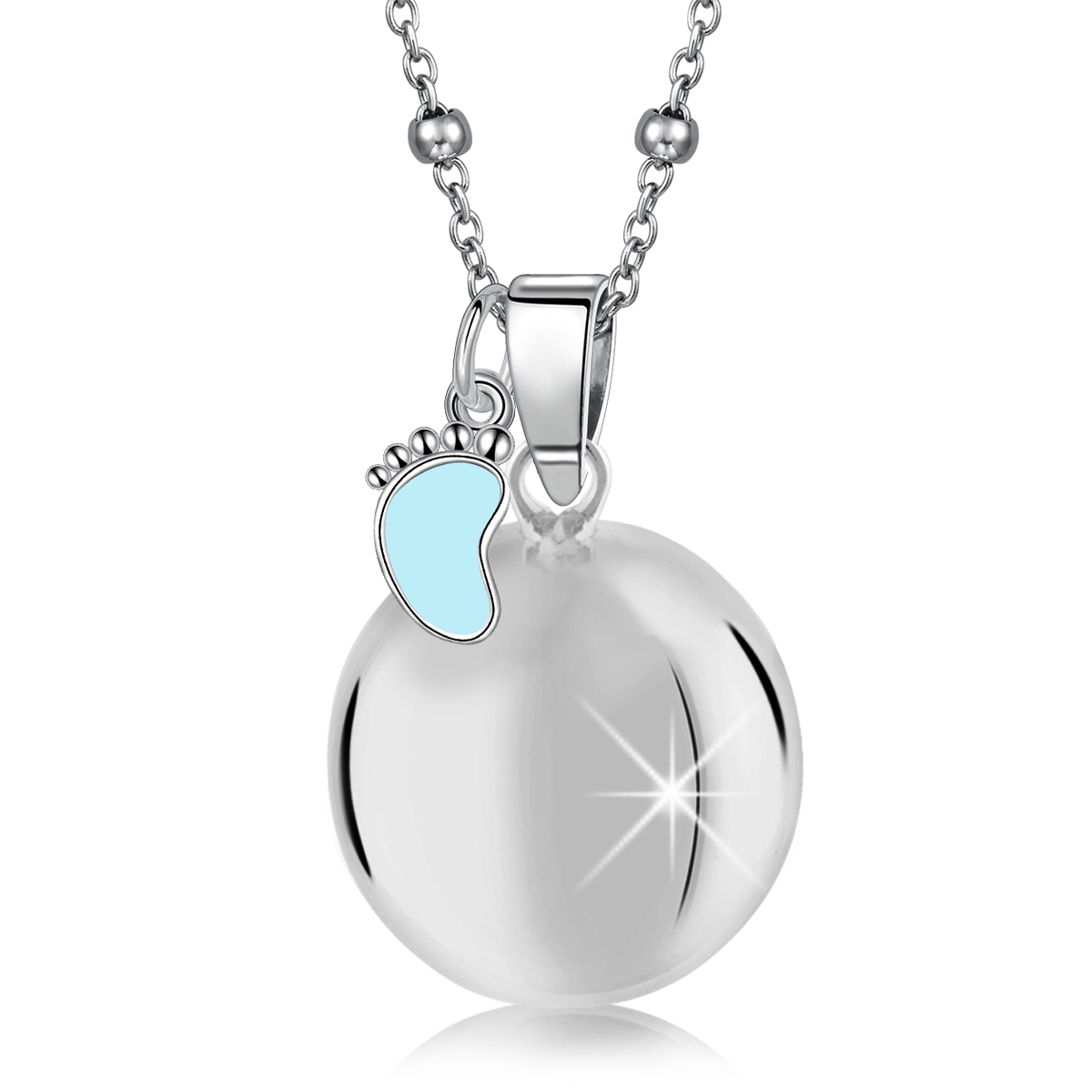 MAMIJUX® light blue enameled baby foot harmony ball