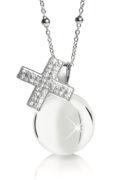 ama Angeli MAMIJUX croce con cristalli bianchi