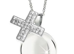 MAMIJUX® White Crystals cross Harmony Ball