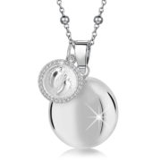 MAMIJUX® baby feet charm with white Crystals Harmony Ball