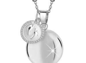MAMIJUX® baby feet charm with white Crystals Harmony Ball