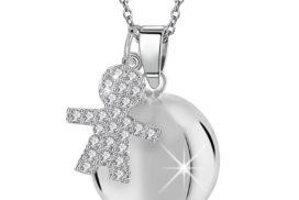 Llamador des ángeles niño con cristales