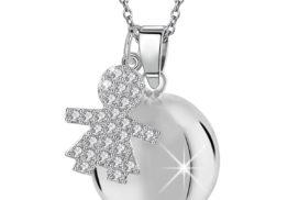 Llamador des ángeles niña cristales