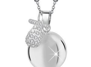 Chiama angeli MAMIJUX® ciuccio con cristalli bianchi