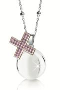 Chiama angeli MAMIJUX croce con cristalli rosa