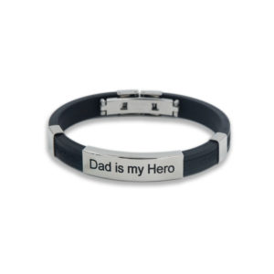 "Bracciale TAG ""Dad is my Hero"""