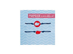 MAMIJUX bracelets for MOM & KID - red whale