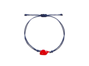 MAMIJUX for KIDS red whale bracelet