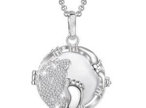 MAMIJUX® crystals baby feet cage harmony ball - white