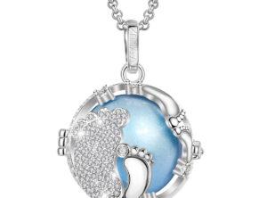 MAMIJUX® baby feet crystals cage harmony ball – light blue