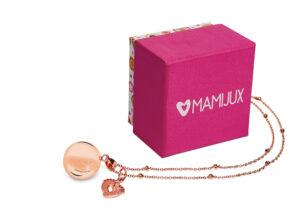 MAMIJUX® gold rose baby feet charm harmony ball